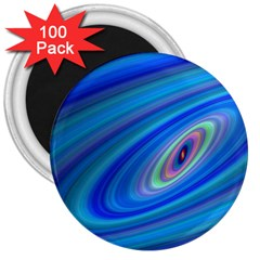 Oval Ellipse Fractal Galaxy 3  Magnets (100 Pack) by Nexatart