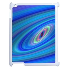 Oval Ellipse Fractal Galaxy Apple Ipad 2 Case (white) by Nexatart