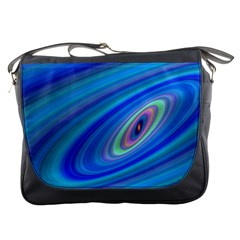 Oval Ellipse Fractal Galaxy Messenger Bags