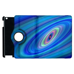 Oval Ellipse Fractal Galaxy Apple Ipad 2 Flip 360 Case by Nexatart