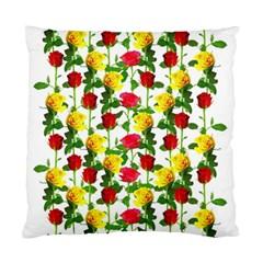 Rose Pattern Roses Background Image Standard Cushion Case (one Side) by Nexatart