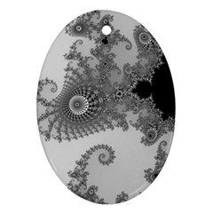Apple Males Mandelbrot Abstract Ornament (oval) by Nexatart