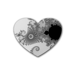 Apple Males Mandelbrot Abstract Rubber Coaster (heart)  by Nexatart
