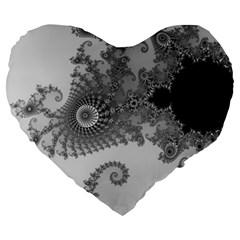 Apple Males Mandelbrot Abstract Large 19  Premium Heart Shape Cushions by Nexatart