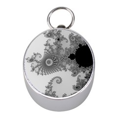 Apple Males Mandelbrot Abstract Mini Silver Compasses by Nexatart