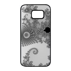 Apple Males Mandelbrot Abstract Samsung Galaxy S7 Edge Black Seamless Case by Nexatart