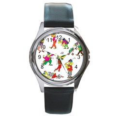 Golfers Athletes Round Metal Watch by Nexatart
