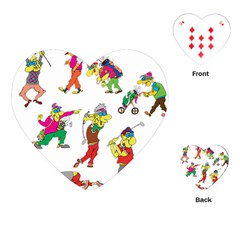 Golfers Athletes Playing Cards (heart)