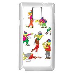 Golfers Athletes Samsung Galaxy Note 4 Case (white) by Nexatart
