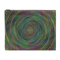 Spiral Spin Background Artwork Cosmetic Bag (xl) by Nexatart