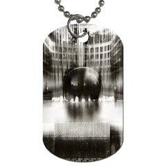 Black And White Hdr Spreebogen Dog Tag (two Sides) by Nexatart