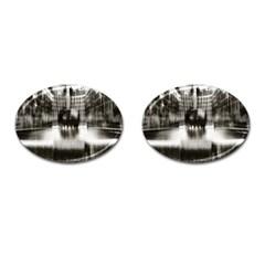 Black And White Hdr Spreebogen Cufflinks (oval) by Nexatart