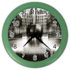 Black And White Hdr Spreebogen Color Wall Clocks by Nexatart