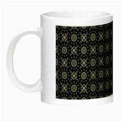 Kaleidoscope Seamless Pattern Night Luminous Mugs by Nexatart
