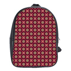 Kaleidoscope Seamless Pattern School Bag (xl) by Nexatart