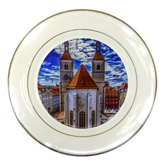Steeple Church Building Sky Great Porcelain Plates by Nexatart