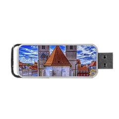 Steeple Church Building Sky Great Portable Usb Flash (two Sides) by Nexatart
