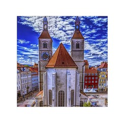 Steeple Church Building Sky Great Small Satin Scarf (square) by Nexatart