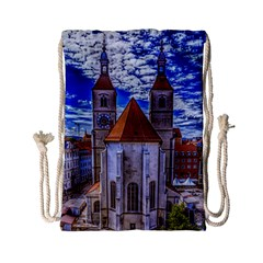 Steeple Church Building Sky Great Drawstring Bag (small) by Nexatart