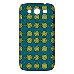 Sunshine Mandalas On Blue Samsung Galaxy Mega 5 8 I9152 Hardshell Case  by pepitasart