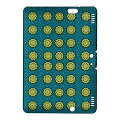 Sunshine Mandalas On Blue Kindle Fire Hdx 8 9  Hardshell Case by pepitasart