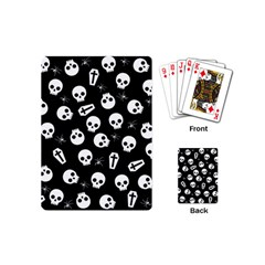 Skull, Spider And Chest    Halloween Pattern Playing Cards (mini)  by Valentinaart