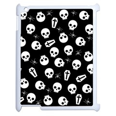 Skull, Spider And Chest    Halloween Pattern Apple Ipad 2 Case (white) by Valentinaart