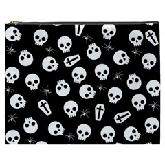 Skull, Spider And Chest    Halloween Pattern Cosmetic Bag (xxxl)  by Valentinaart