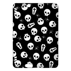 Skull, Spider And Chest    Halloween Pattern Kindle Fire Hdx Hardshell Case by Valentinaart