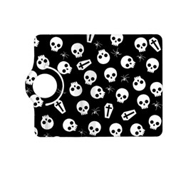 Skull, Spider And Chest    Halloween Pattern Kindle Fire Hd (2013) Flip 360 Case by Valentinaart