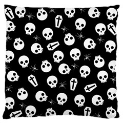 Skull, Spider And Chest    Halloween Pattern Standard Flano Cushion Case (one Side) by Valentinaart