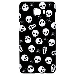 Skull, Spider And Chest    Halloween Pattern Samsung C9 Pro Hardshell Case  by Valentinaart