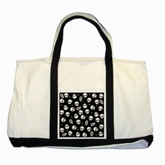 Skull, Spider And Chest    Halloween Pattern Two Tone Tote Bag by Valentinaart