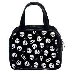 Skull, Spider And Chest    Halloween Pattern Classic Handbags (2 Sides) by Valentinaart