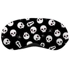 Skull, Spider And Chest    Halloween Pattern Sleeping Masks by Valentinaart