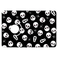Skull, Spider And Chest    Halloween Pattern Kindle Fire Hdx Flip 360 Case by Valentinaart