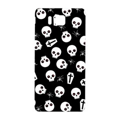 Skull, Spider And Chest    Halloween Pattern Samsung Galaxy Alpha Hardshell Back Case by Valentinaart