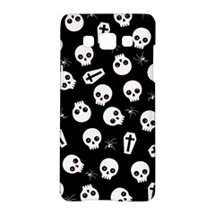 Skull, Spider And Chest    Halloween Pattern Samsung Galaxy A5 Hardshell Case  by Valentinaart
