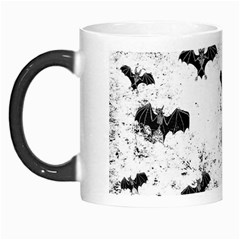 Vintage Halloween Bat Pattern Morph Mugs by Valentinaart