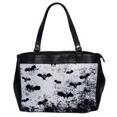 Vintage Halloween Bat Pattern Office Handbags by Valentinaart