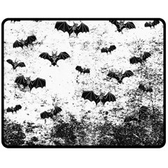 Vintage Halloween Bat Pattern Fleece Blanket (medium)  by Valentinaart