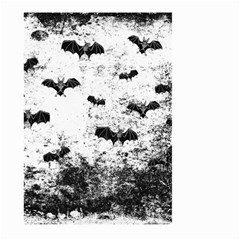 Vintage Halloween Bat Pattern Large Garden Flag (two Sides) by Valentinaart