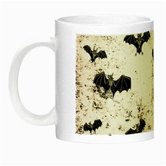 Vintage Halloween Bat Pattern Night Luminous Mugs by Valentinaart