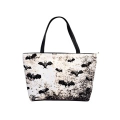 Vintage Halloween Bat Pattern Shoulder Handbags by Valentinaart