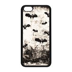 Vintage Halloween Bat Pattern Apple Iphone 5c Seamless Case (black) by Valentinaart