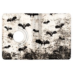 Vintage Halloween Bat Pattern Kindle Fire Hdx Flip 360 Case by Valentinaart