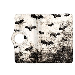 Vintage Halloween Bat Pattern Kindle Fire Hdx 8 9  Flip 360 Case by Valentinaart