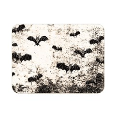 Vintage Halloween Bat Pattern Double Sided Flano Blanket (mini)  by Valentinaart