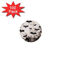 Vintage Halloween Bat Pattern 1  Mini Buttons (100 Pack)  by Valentinaart