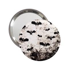 Vintage Halloween Bat Pattern 2 25  Handbag Mirrors by Valentinaart